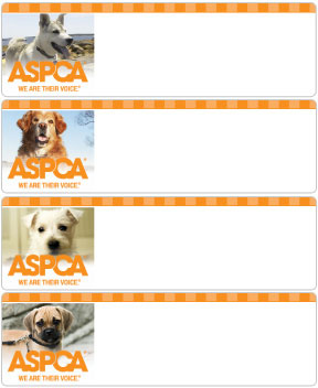aspca dogs address labels promise checks