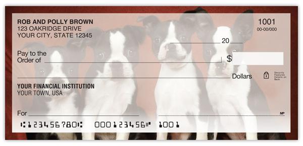 Boston Terrier Personal Checks Promise Checks