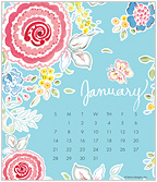 Floral Splash 2018 CD Desk Calendar