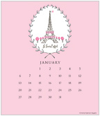 Paris 2019 CD Desk Calendar