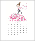 Party Dress 2018 CD Desk Calendar