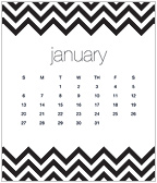Bold Chevron 2019 CD Desk Calendar