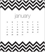 Bold Chevron 2018 CD Desk Calendar