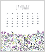 Flirty Floral 2019 CD Desk Calendar