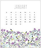 Flirty Floral 2018 CD Desk Calendar