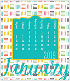 Patterns 2019 CD Desk Calendar