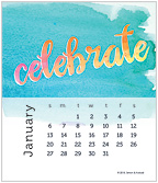 Watercolor 2019 CD Desk Calendar