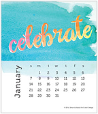 Watercolor 2018 CD Desk Calendar