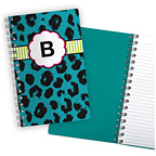 Animal Print Aqua Notebook