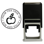 Apple Round Stamp